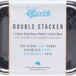 CHEEKI Stainless Steel Lunch Box Double Stacker 1L